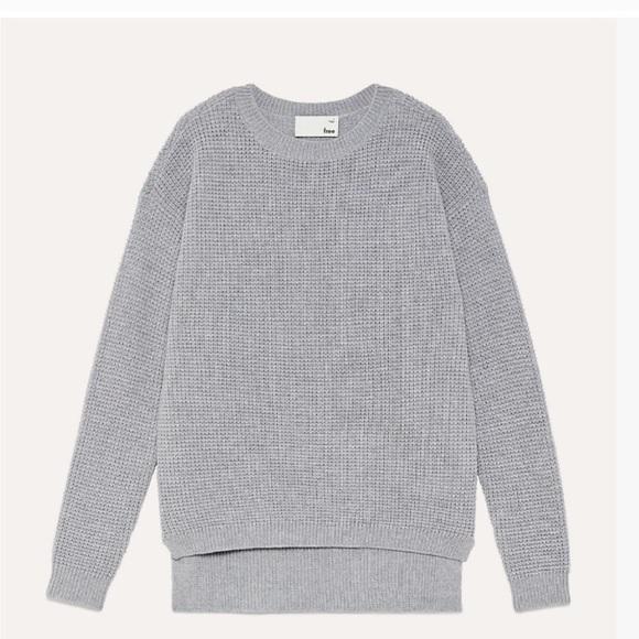 Aritzia Wilfred Waffle Sweater